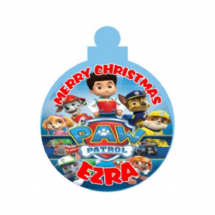 Paw Patrol Acrylic Christmas Ornament Decoration